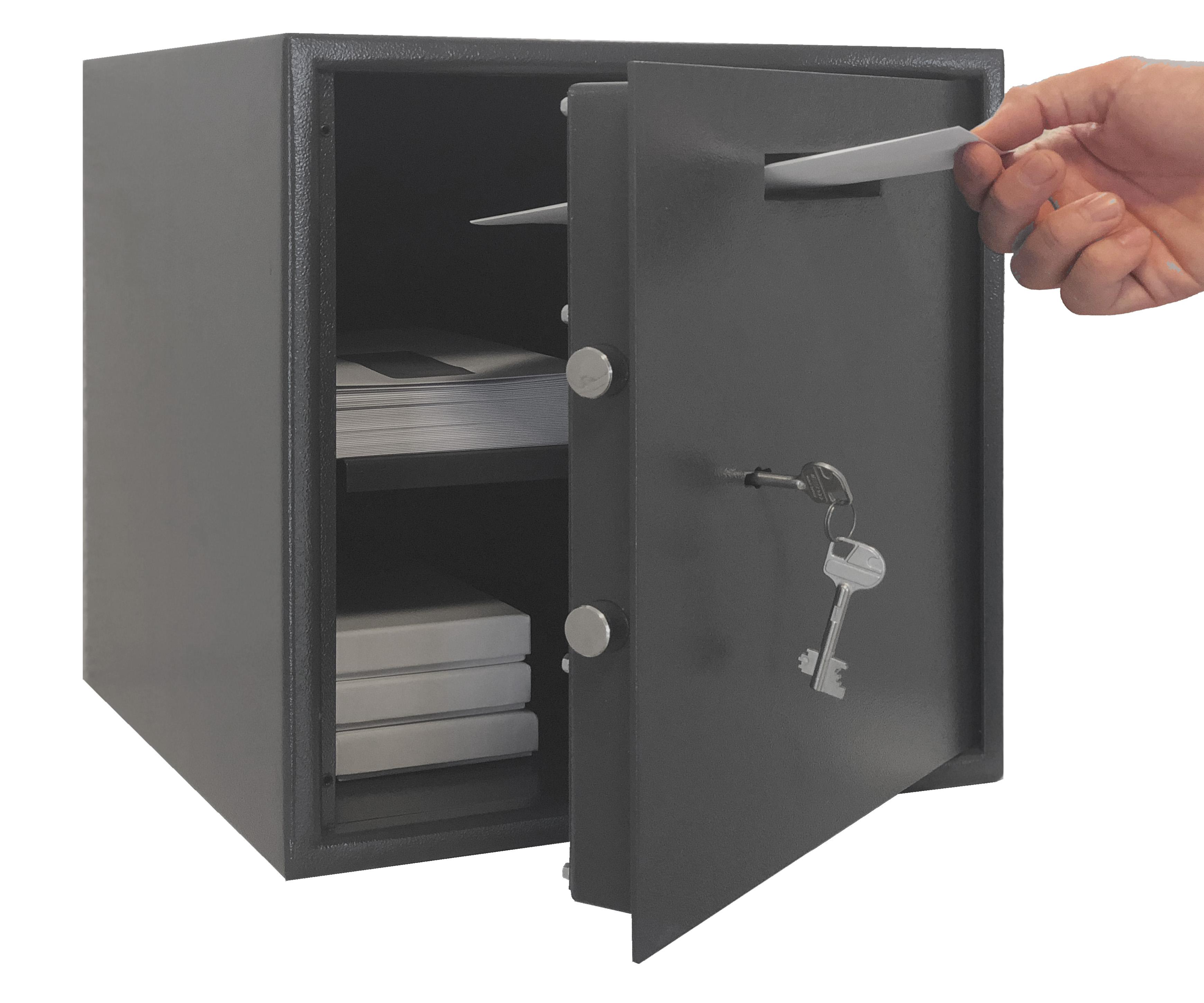 einwurftresor als tresor mit einwurfschlitz. Black Bedroom Furniture Sets. Home Design Ideas