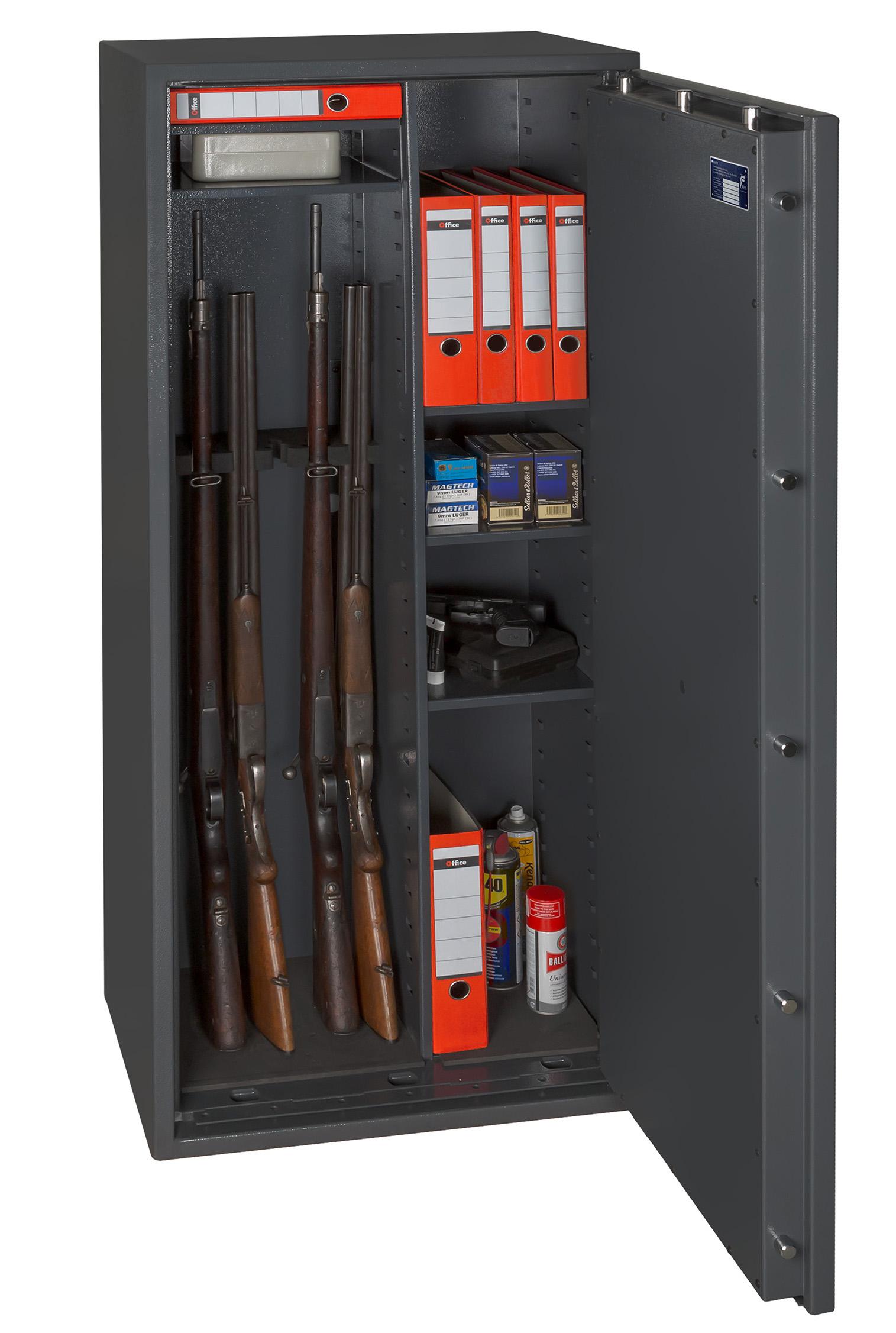 waffenschrank gun safe kombi nach en 1143 1 mit zahlenschloss. Black Bedroom Furniture Sets. Home Design Ideas