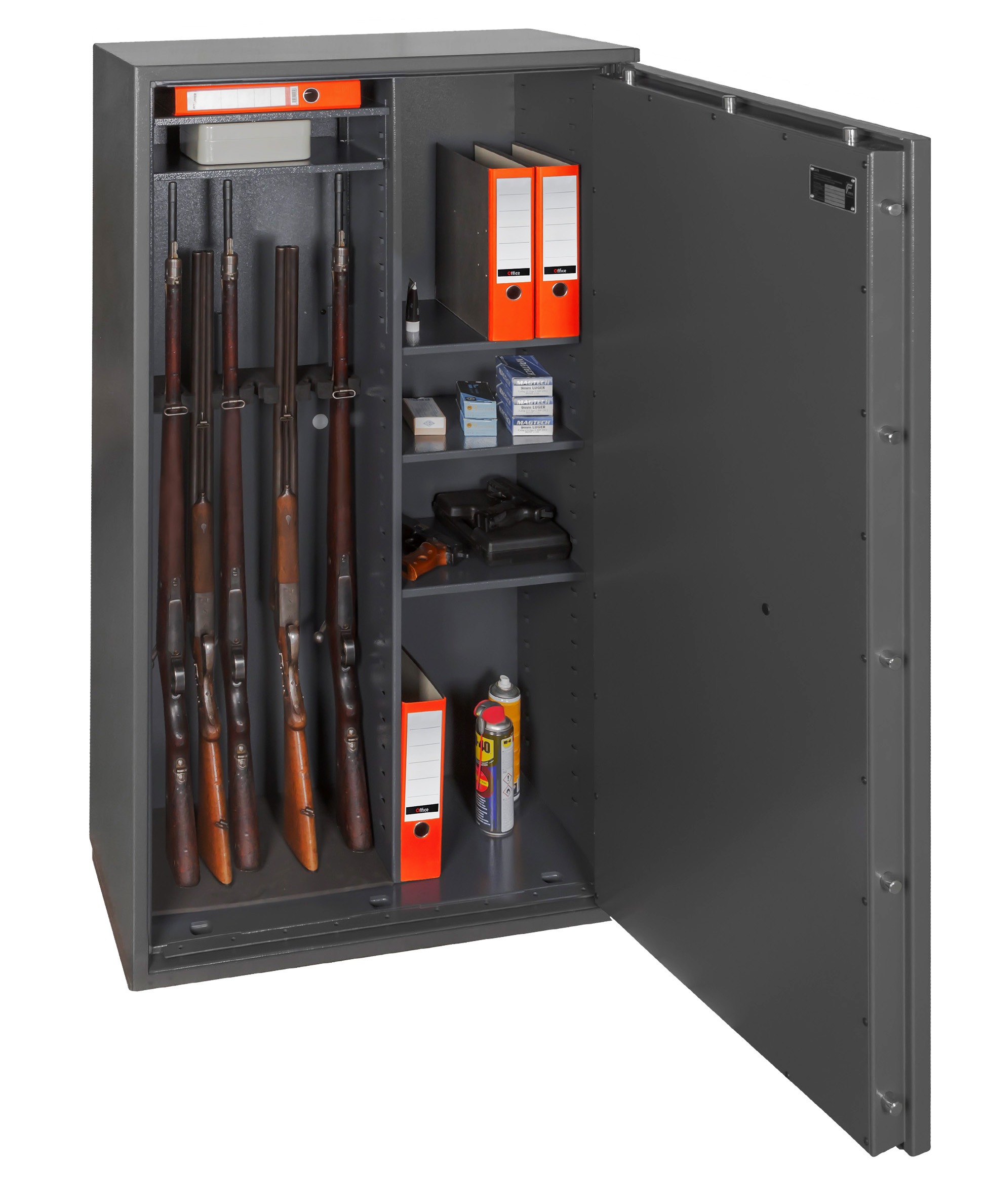 waffenschrank grad 0 en 1143 1 gun safe 1 8 kombi mit zahlenschloss. Black Bedroom Furniture Sets. Home Design Ideas