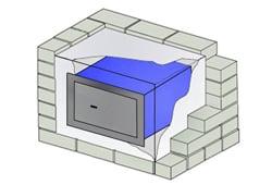 wandtresor und wandsafe mit stufe b und vds klasse widerstandsgrad 1 nach en 1143 1. Black Bedroom Furniture Sets. Home Design Ideas